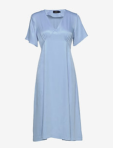 Livier dress - midi dresses - blue