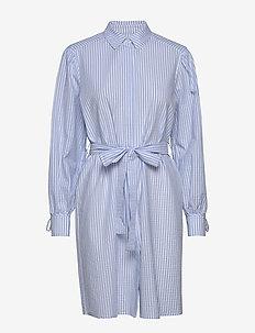 Leonie Dress - skjortklänningar - blue