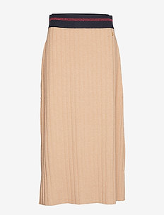 Alette Knit Skirt - midi skirts - camel