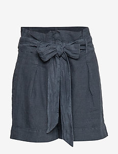 Elba Linen Shorts - BLUE