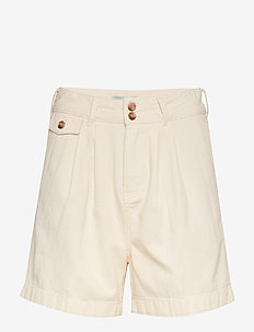 Paulette Chino Shorts - bermudas - off white