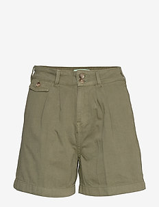 Paulette Chino Shorts - bermudas - olive