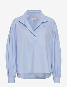 Josephina Shirt - langermede skjorter - light blue