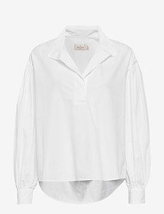 Josephina Shirt - långärmade skjortor - white