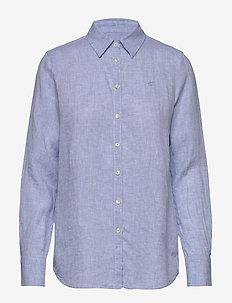 Kirsten Linen Shirt - chemises à manches longues - blue