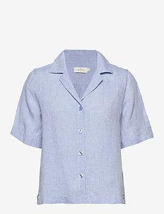 Donna Linen Shirt - BLUE