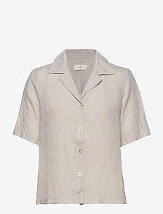 Donna Linen Shirt - KHAKI