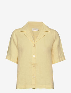 Donna Linen Shirt - kortermede skjorter - yellow