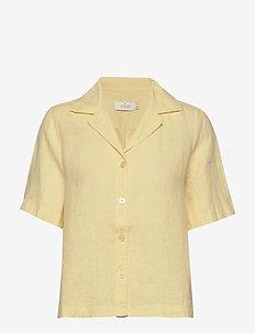 Donna Linen Shirt - overhemden met korte mouwen - yellow