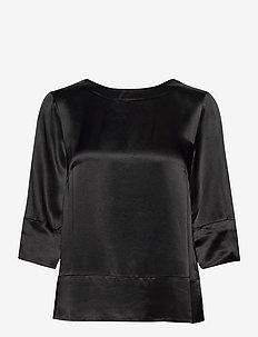 Aurore Blouse - long sleeved blouses - black