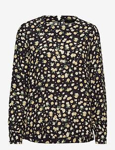 Jolie Blouse - long sleeved blouses - navy