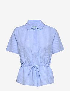 Ivet Blouse - blouses met korte mouwen - blue
