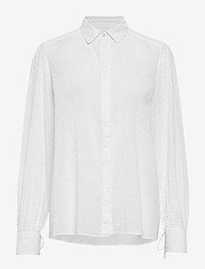 Leonie Blouse - långärmade skjortor - white