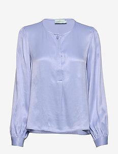 Ines Blouse - blouses med lange mouwen - blue