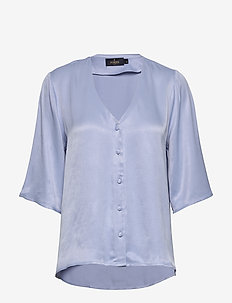 Delia Blouse - blouses à manches courtes - blue