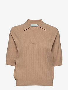 Estee Knit - knitted tops & t-shirts - camel