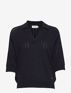 Estee Knit - knitted tops & t-shirts - navy