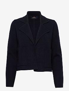 Valere Knit Jacket - swetry rozpinane - blue