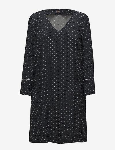 Eve Printed Dress - hverdagskjoler - blue