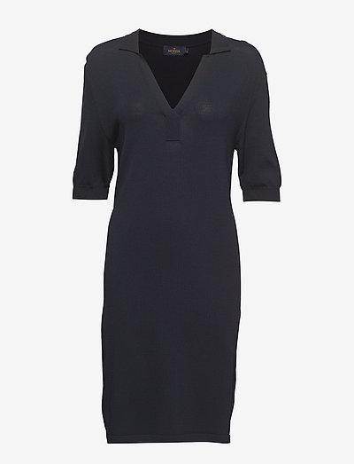 Coline Knit Dress - hverdagskjoler - blue