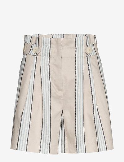 Elsa Shorts - paper bag shorts - khaki