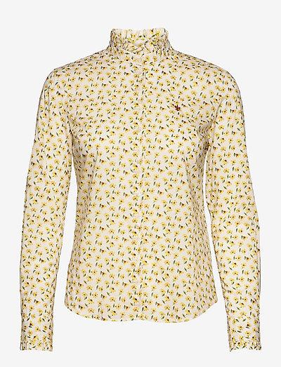 Amalie Liberty Shirt - langærmede skjorter - yellow