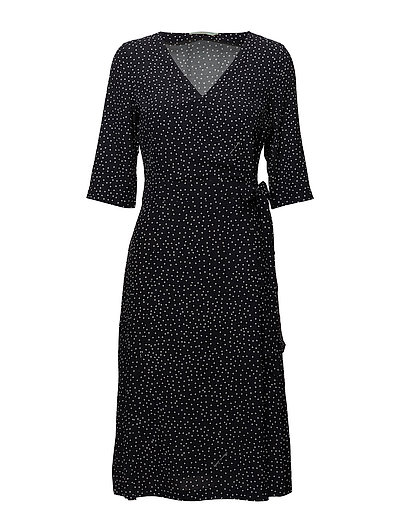 Aimée Print Dress - BLACK
