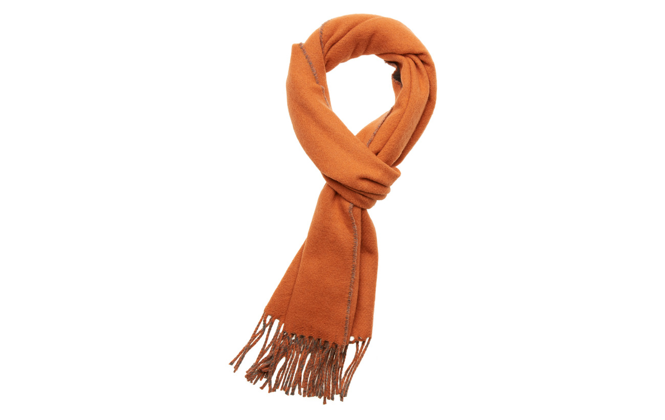 Morris Morris Double Face Scarf - ORANGE