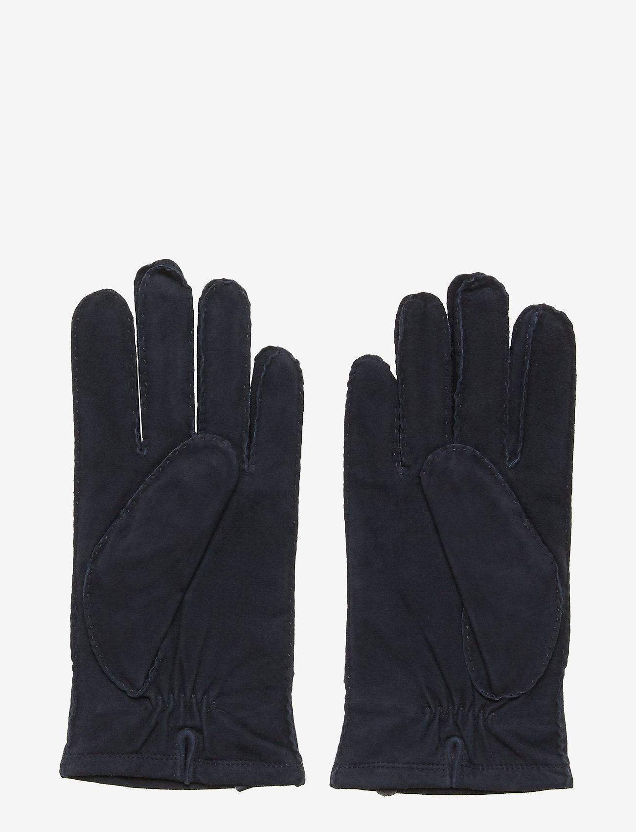 Morris - Morris Suede Gloves - rękawiczki - blue - 1