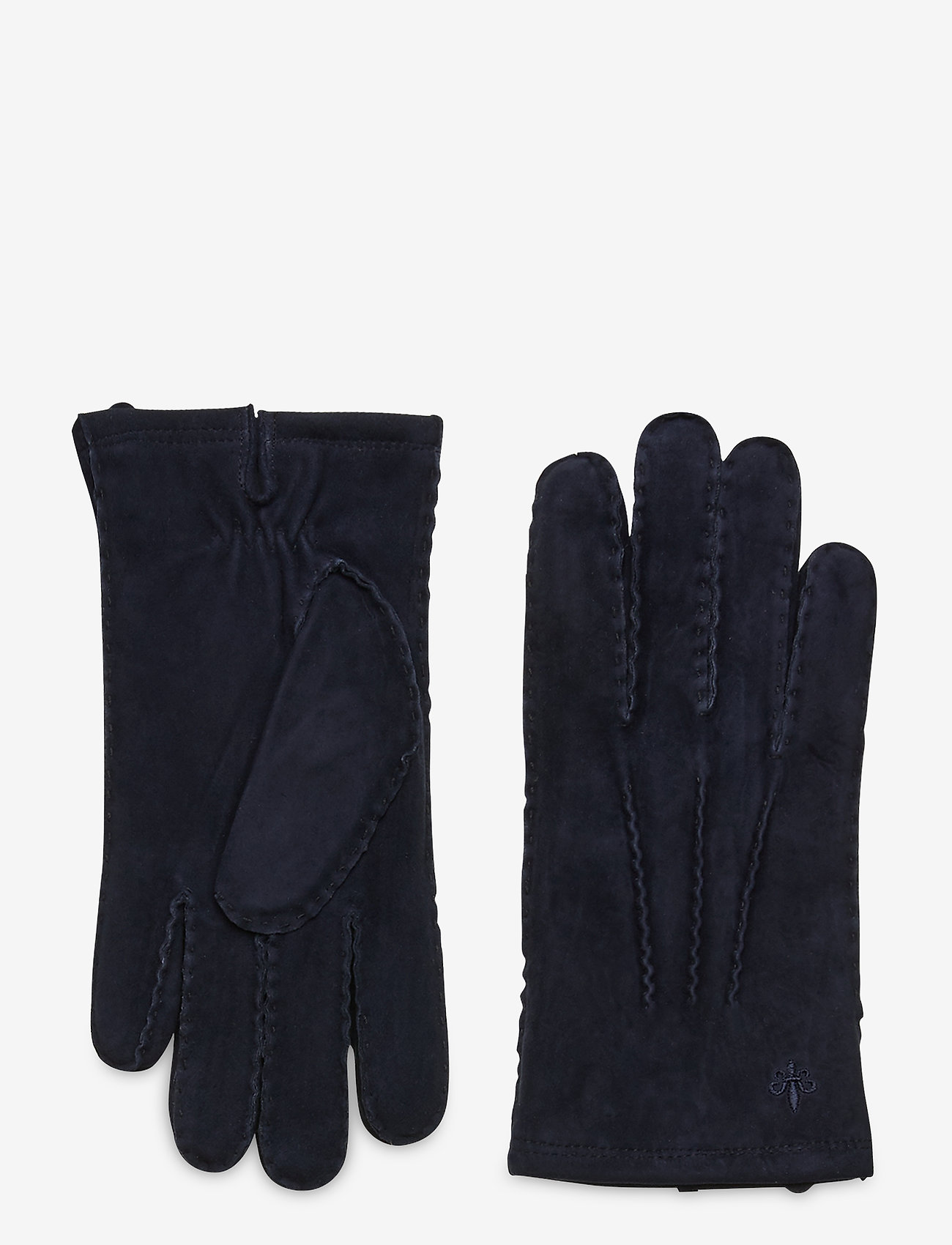 Morris - Morris Suede Gloves - gants - blue - 0