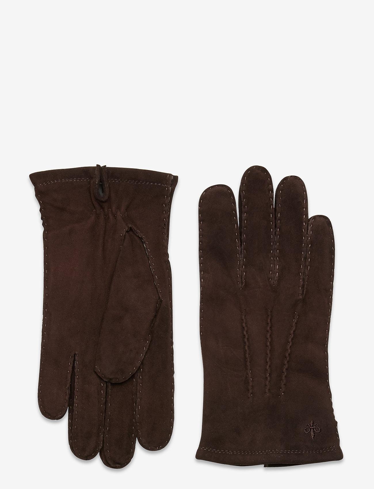 Morris - Morris Suede Gloves - gants - brown - 0