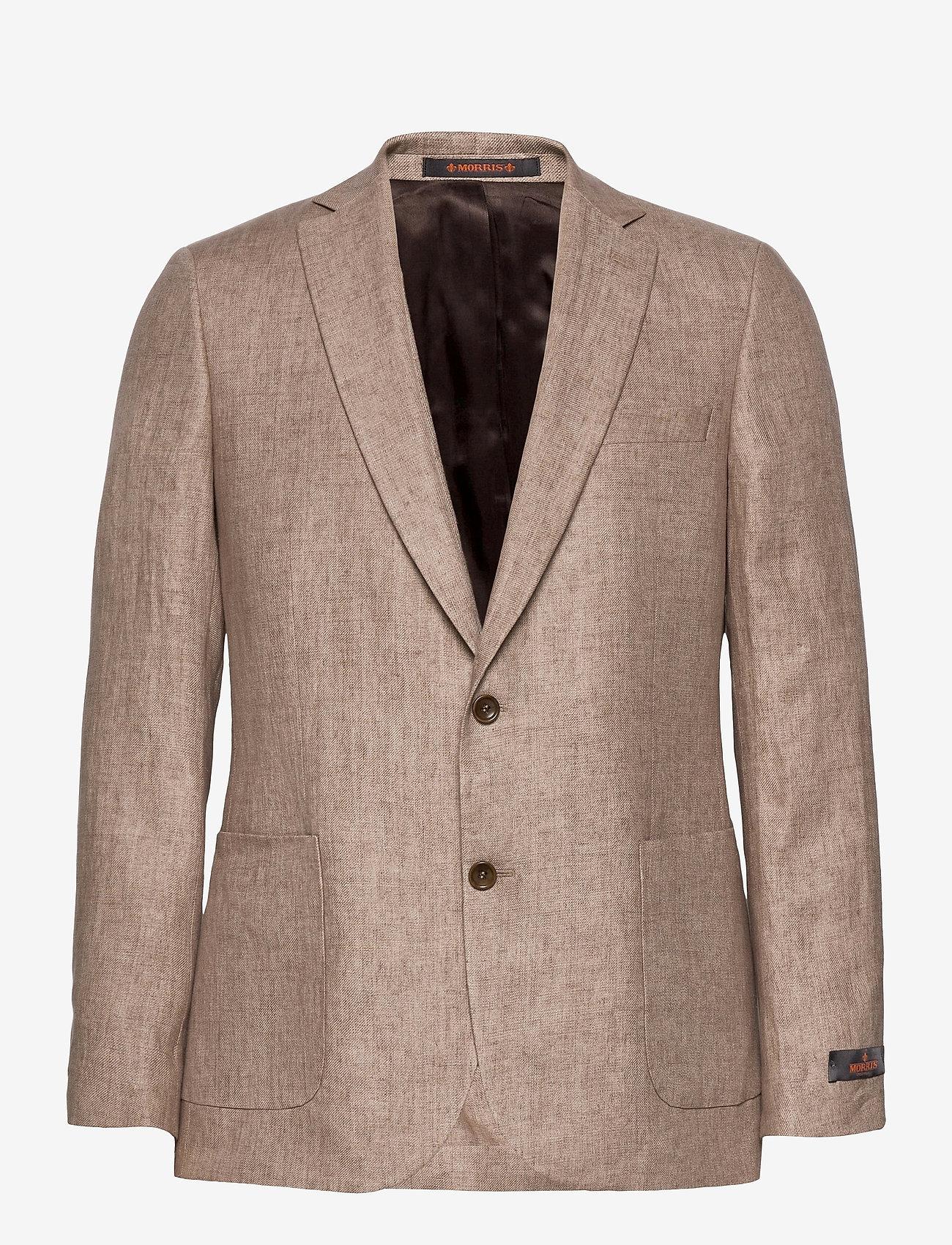 Morris - Sebastian Linen Blazer - single breasted blazers - khaki - 0
