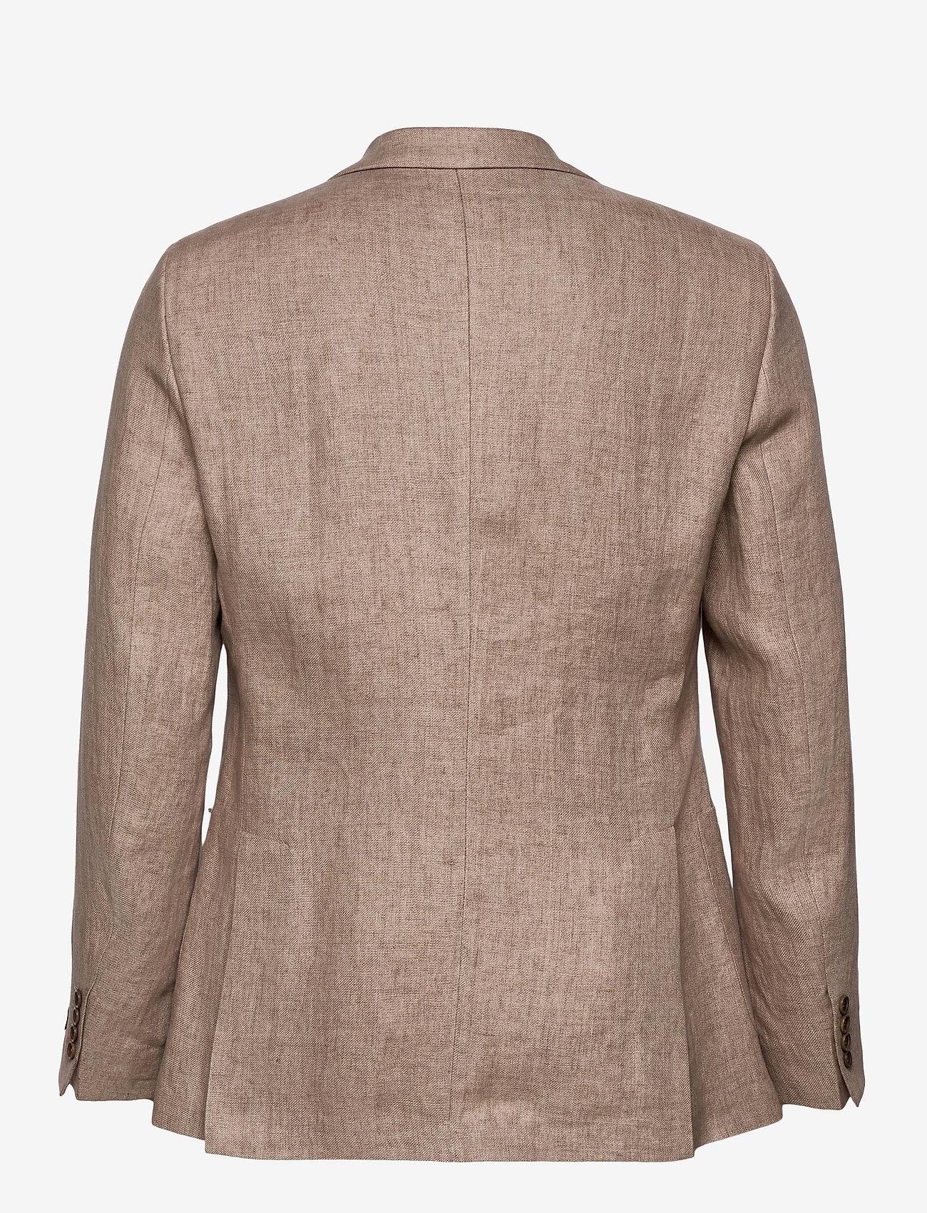 Morris - Sebastian Linen Blazer - single breasted blazers - khaki - 1