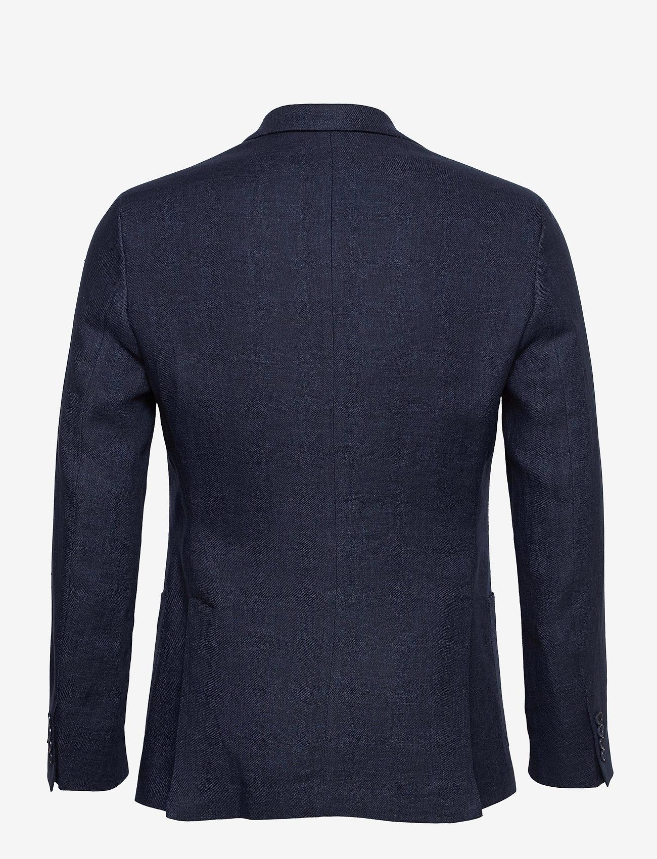Morris - Sebastian Linen Blazer - single breasted blazers - navy - 1