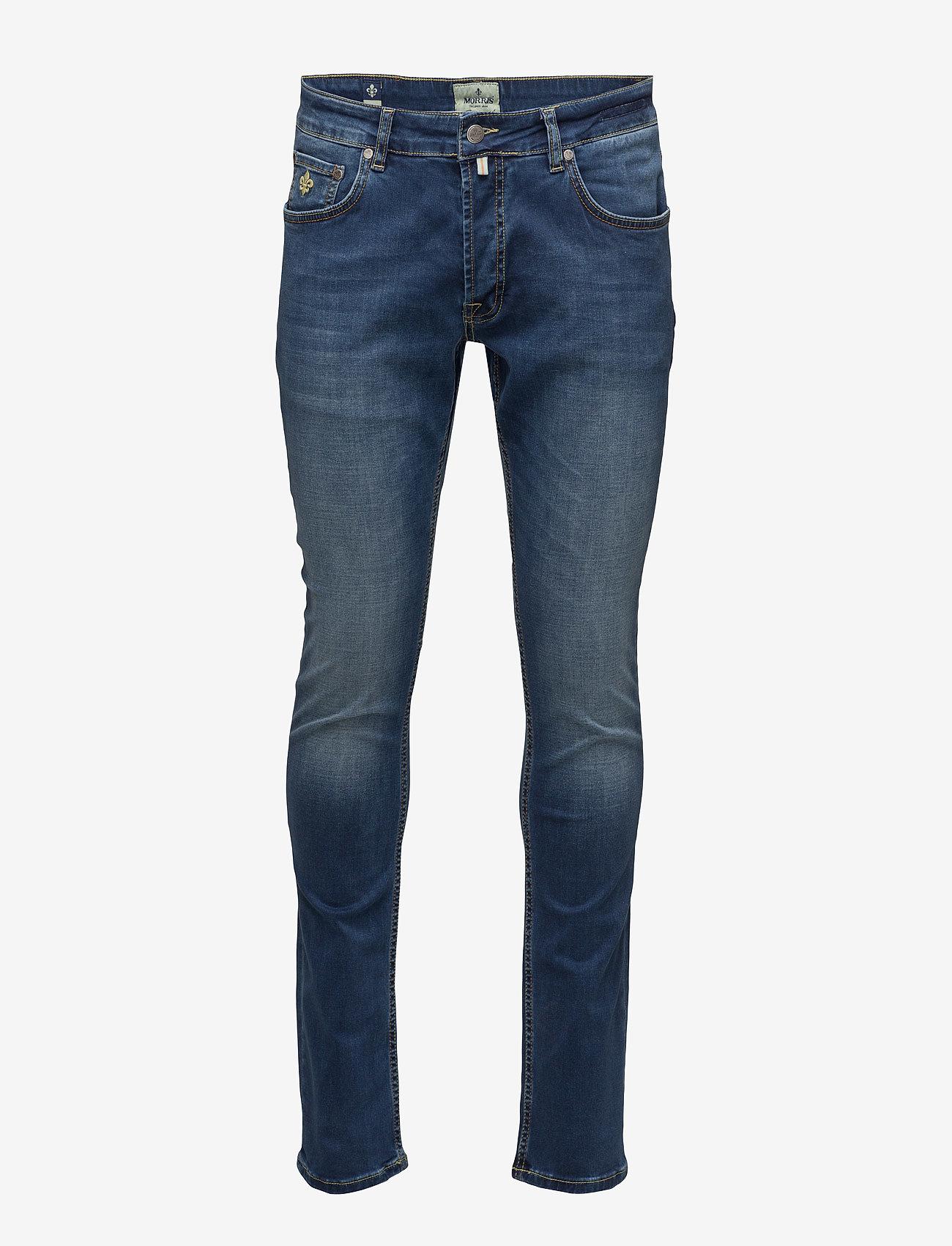 Morris - Steve Satin Jeans - skinny jeans - semi dark wash - 1