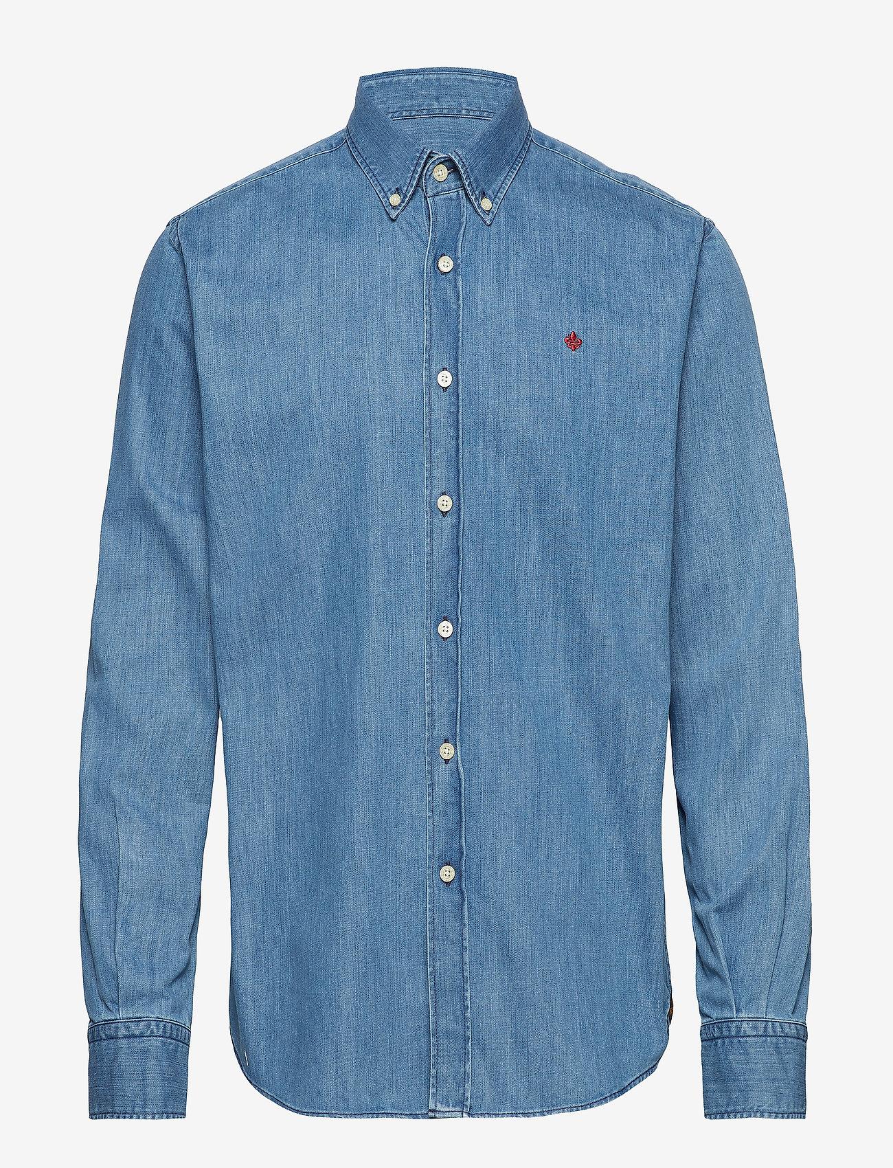 Morris - Cary Grant Denim Shirt - denim shirts - light blue - 0
