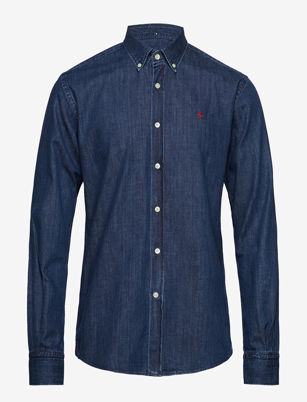 Morris - Cary Grant Denim Shirt - oxford-hemden - navy - 0