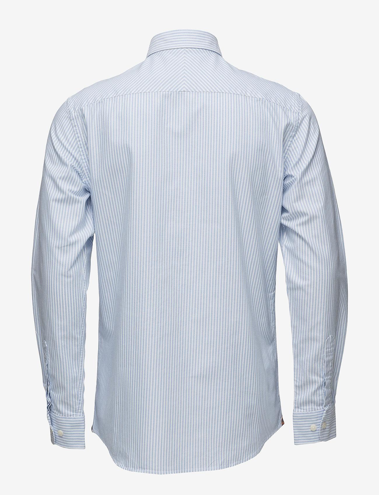 Oxford Striped Button Down (Light Blue) (99 €) - Morris 0X8gY