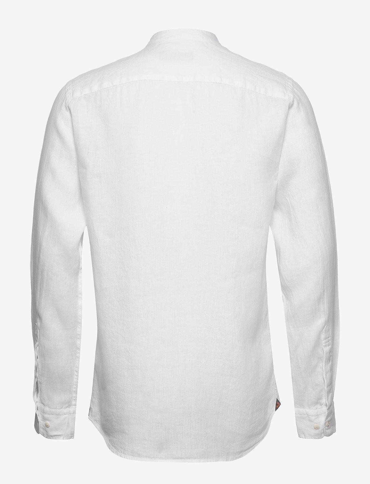 Nicolas Band Collar Shirt (White) (90.30 €) - Morris hDApo