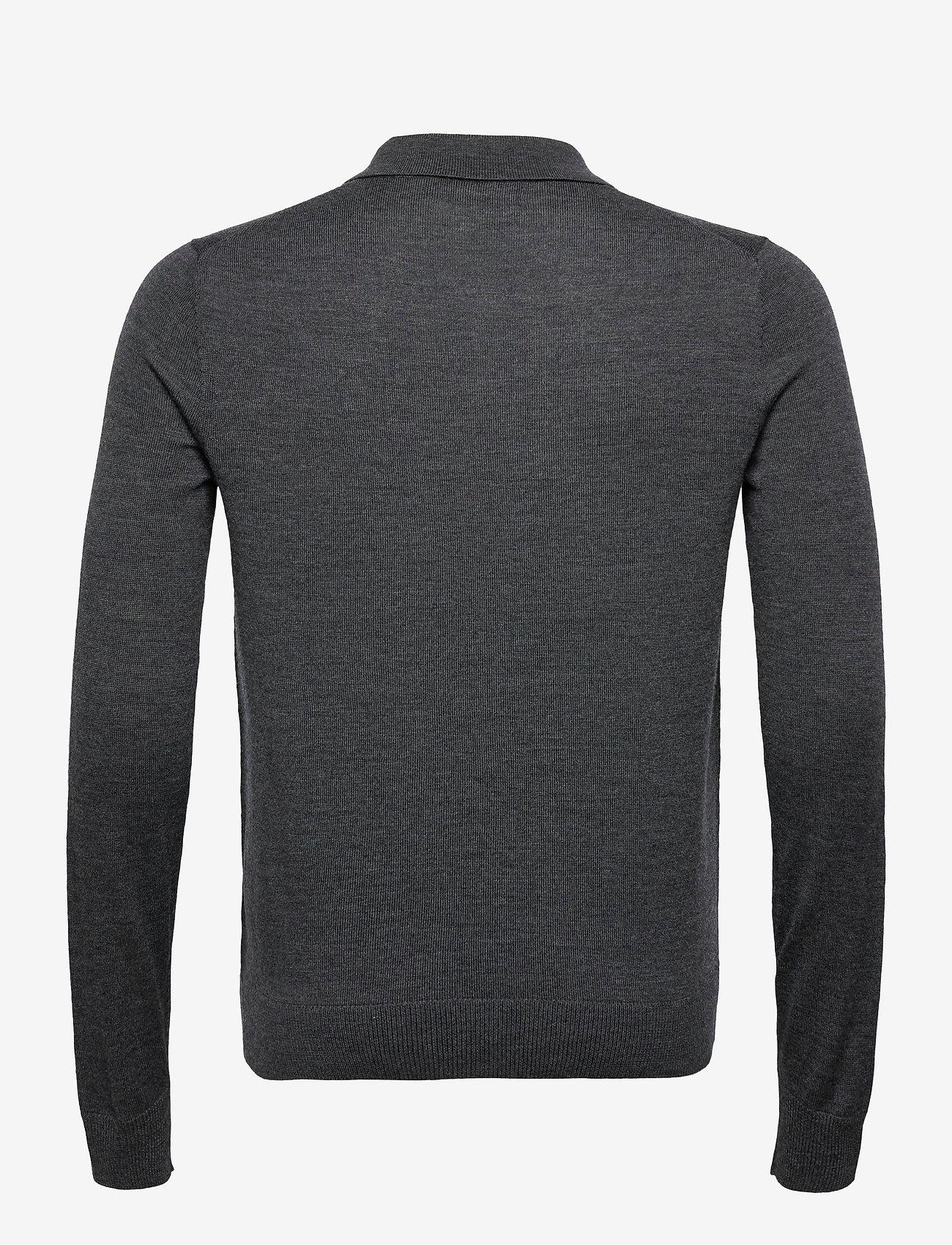 Morris Merino Polo Shirt - Poloskjorter GREY - Menn Klær