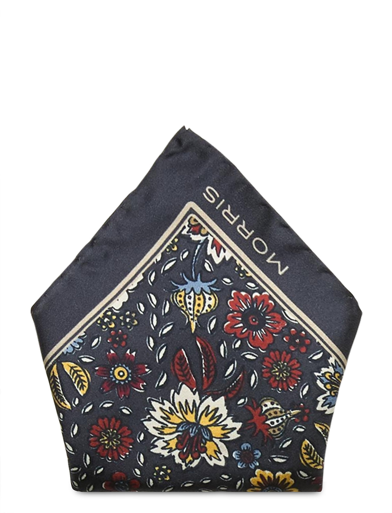 Image of Morris Flower Pocket Square Brystlommetørklæde Blå Morris (3486936901)