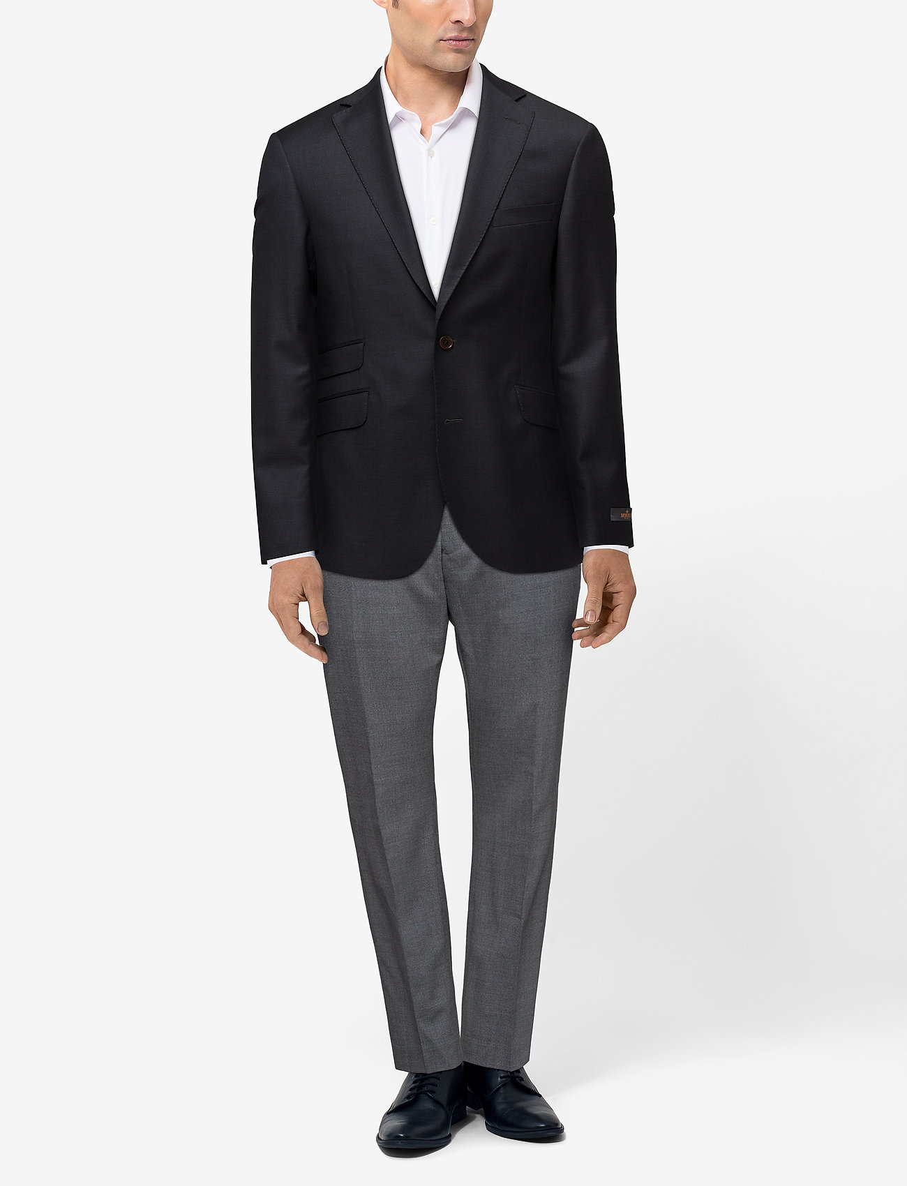 Morris Paul Solid Suit Blazer - GREY