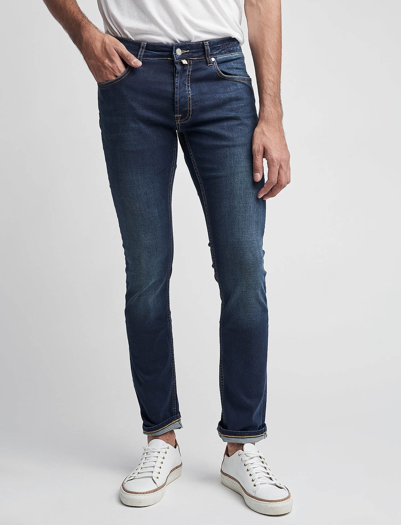 Morris - Steve Satin Jeans - skinny jeans - dk wash - 0