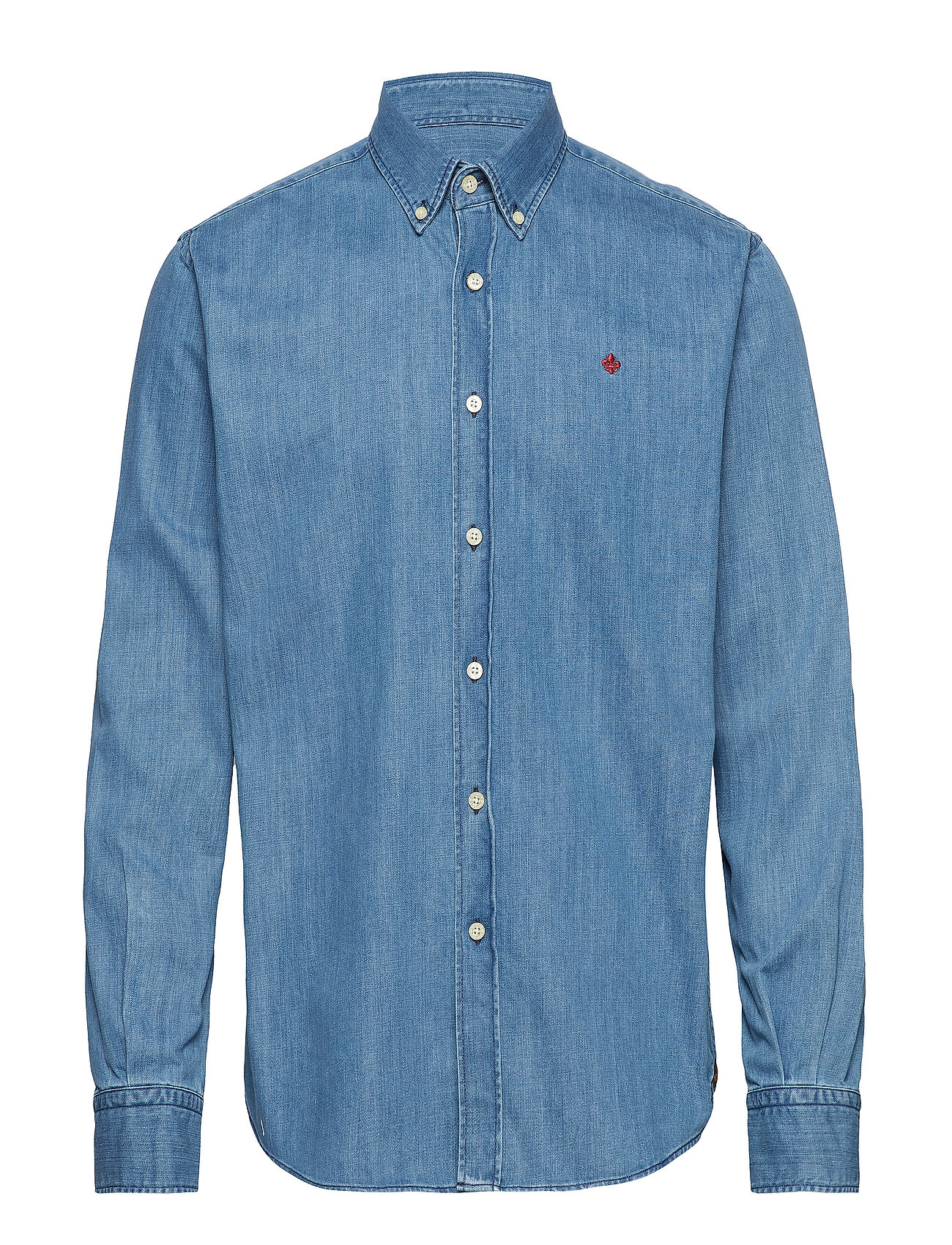 Morris Cary Grant Denim Shirt - LIGHT BLUE