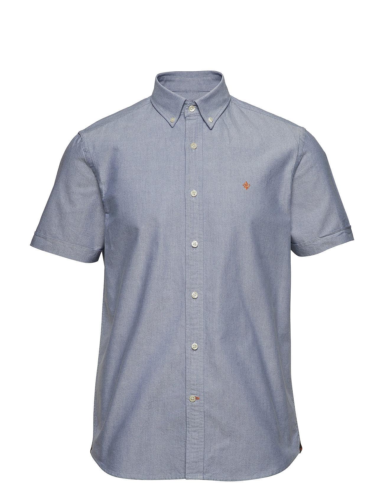Morris Evan SS Button Down Shirt - BLUE