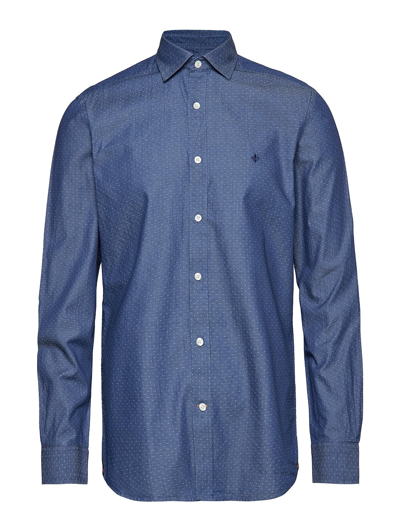 Morris Bernard Indigo Spread Collar S - BLUE