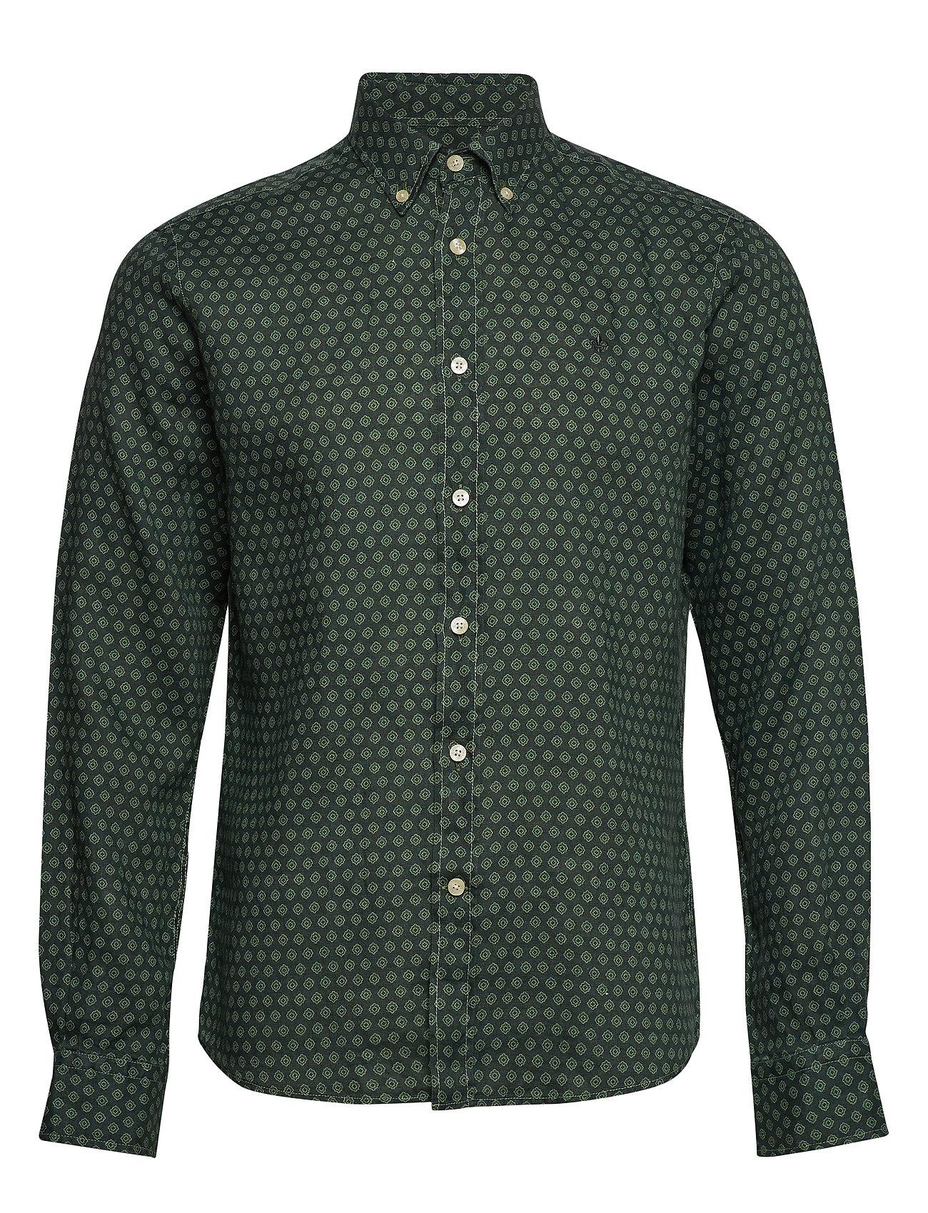 Morris Bligh Button Down Linen Shirt - GREEN
