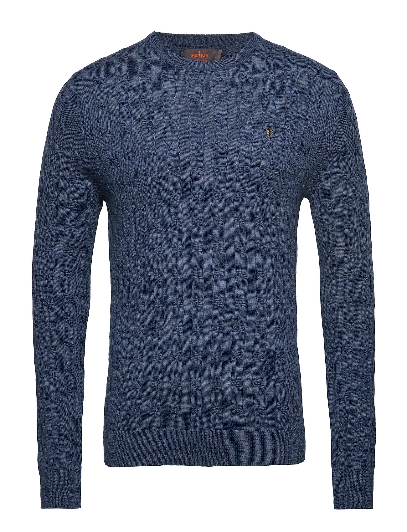 Morris Merino Cable Oneck - BLUE