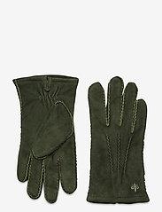 Morris - Morris Suede Gloves - hanskat - olive - 0