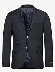 Morris - Charles Club Blazer - single breasted blazers - navy - 0